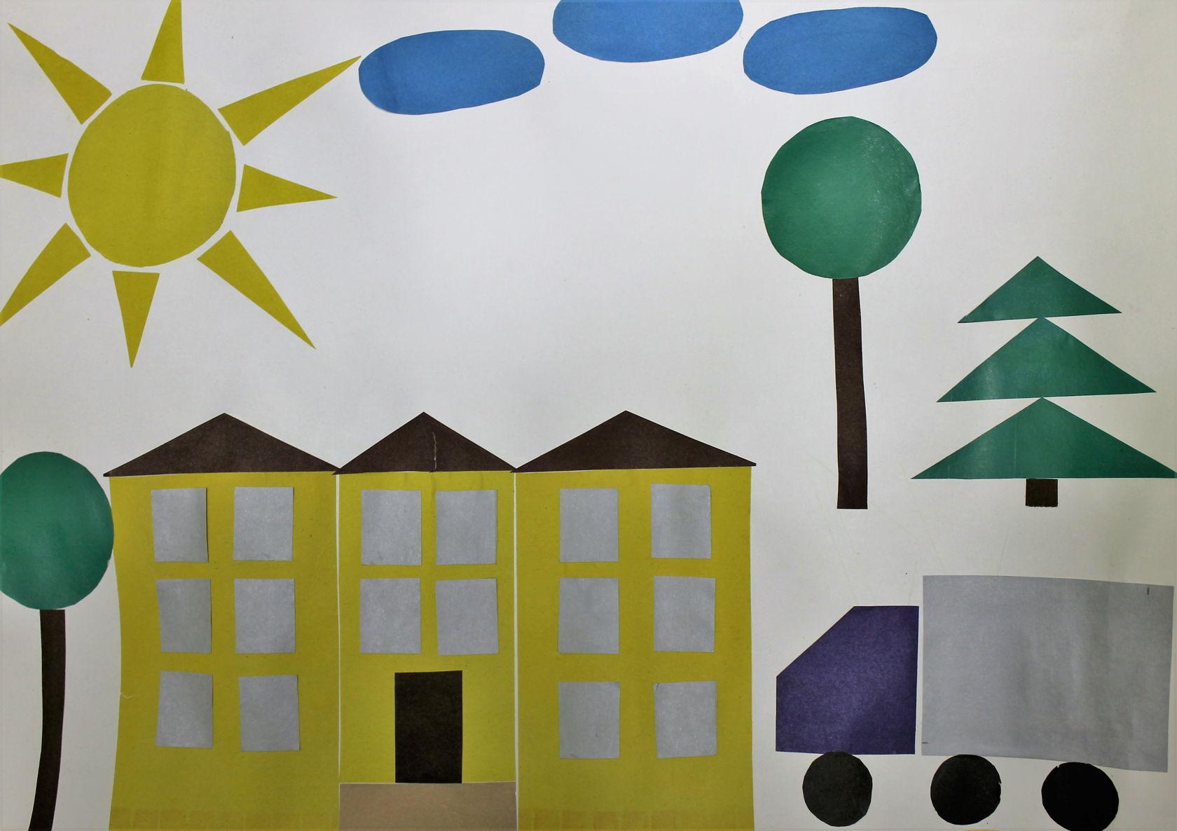 Аппликации из геометрических фигур для детей разного возраста
